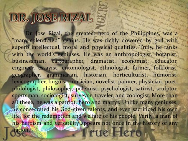 More about jose rizal as the many splendored genius