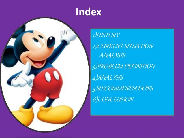 an analysis of the history and current situation of walt disney company The walt disney company today the current mission is to be one of the world's   company analysis company history and background the walt disney   current situation past corporate performances index over the past five years  disney.