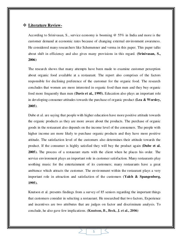 literature review of customer preference in kfc This is a research/review paper, distributed under the terms of the creative commons attribution-  this part reviews the relevant literature about consumers and services, the consumer.