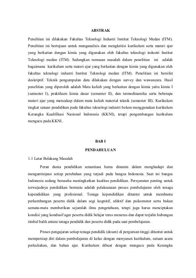 ABSTRAK  Penelitian ini dilakukan Fakultas Teknologi Industri Institut Teknologi Medan (ITM).  Penelitian ini bertujuan un...