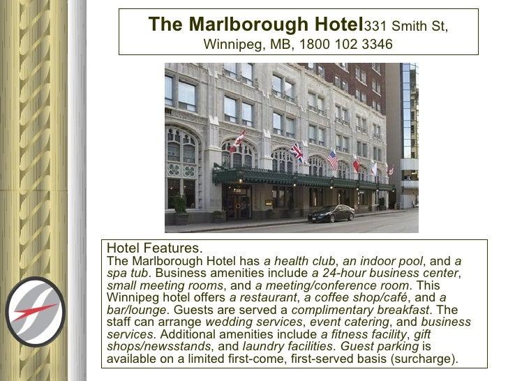 Marlborough Hotel Winnipeg Parking