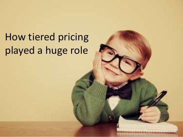 Why does tiered pricing work so well? While I'm no psychologist, my guess is that there are plenty of people who, if given...