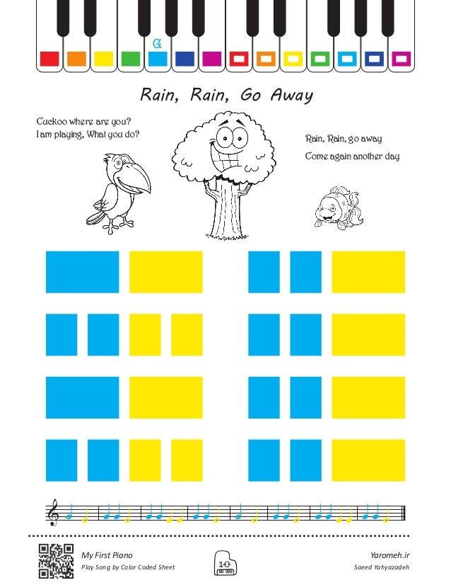 Yaromeh.ir Saeed Yahyazadeh My First Piano Play Song by Color Coded Sheet 10 Rain, Rain, Go Away g Rain, Rain, go away Com...