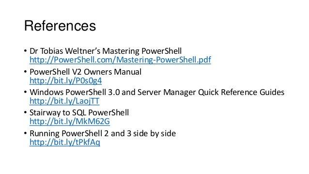 mastering powershell tobias weltner pdf