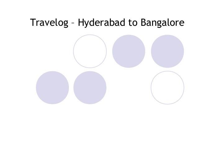 Travelog – Hyderabad to Bangalore