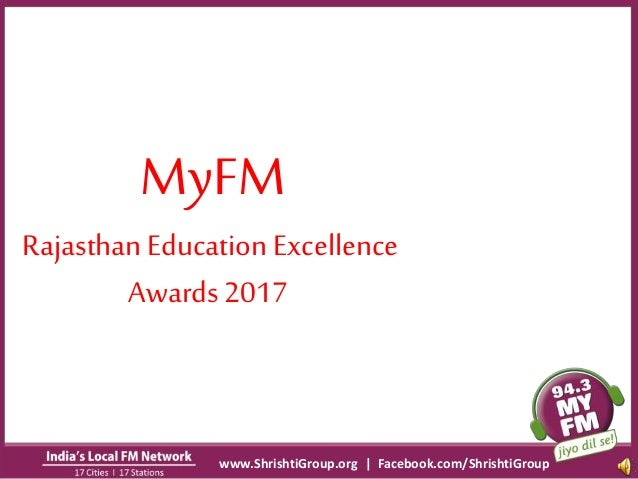 My fm rajasthan education excellence awards 2017