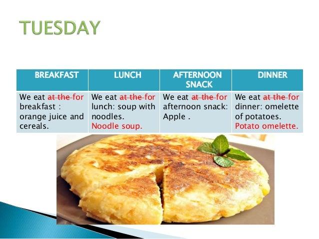 my food diary ana y marta 5a