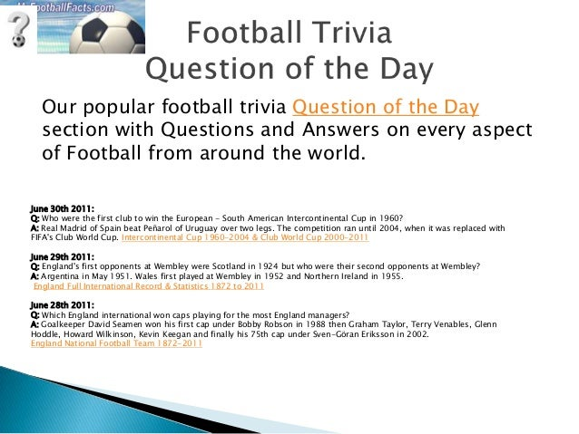 Real Madrid Quiz Questions And Answers