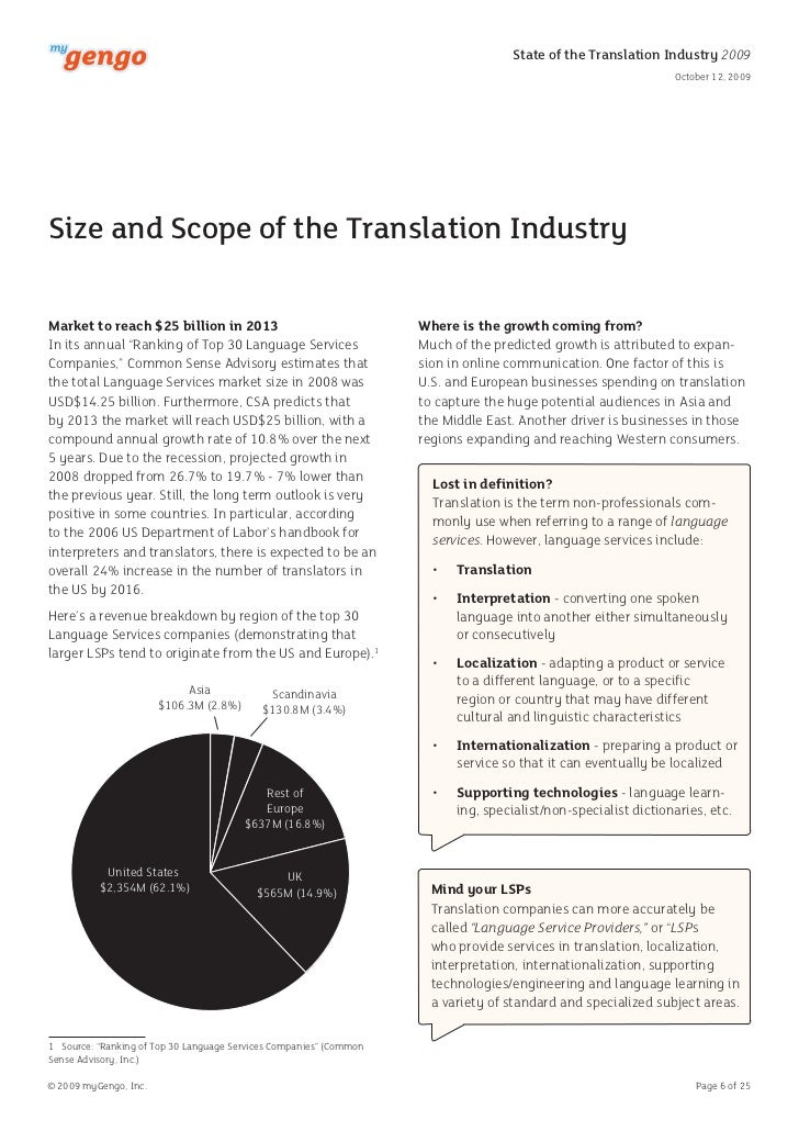 MyGengo State Of Global Translation Industry 2009