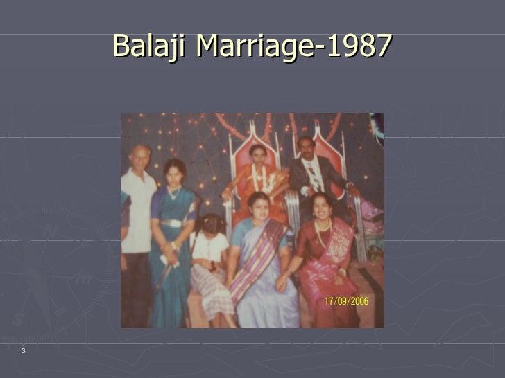 Balaji Marriage-1987