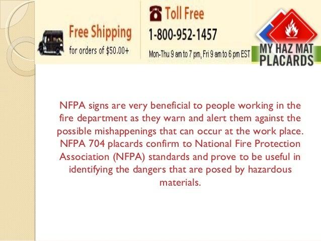 myhazmatplacards com has a wide range of nfpa signs