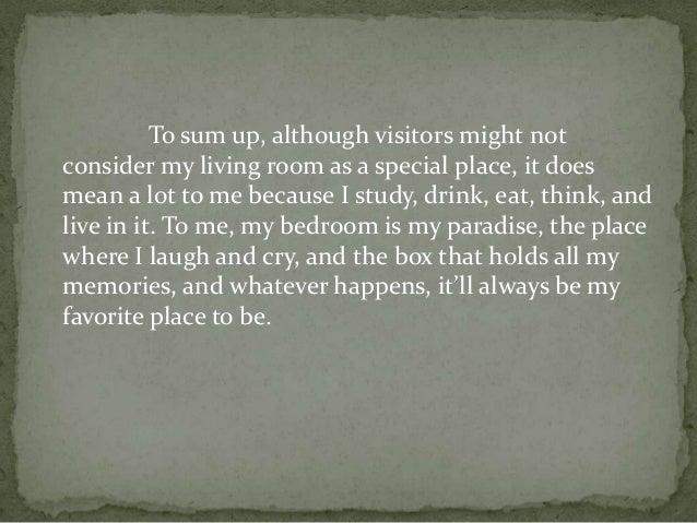 description of my favorite place essay