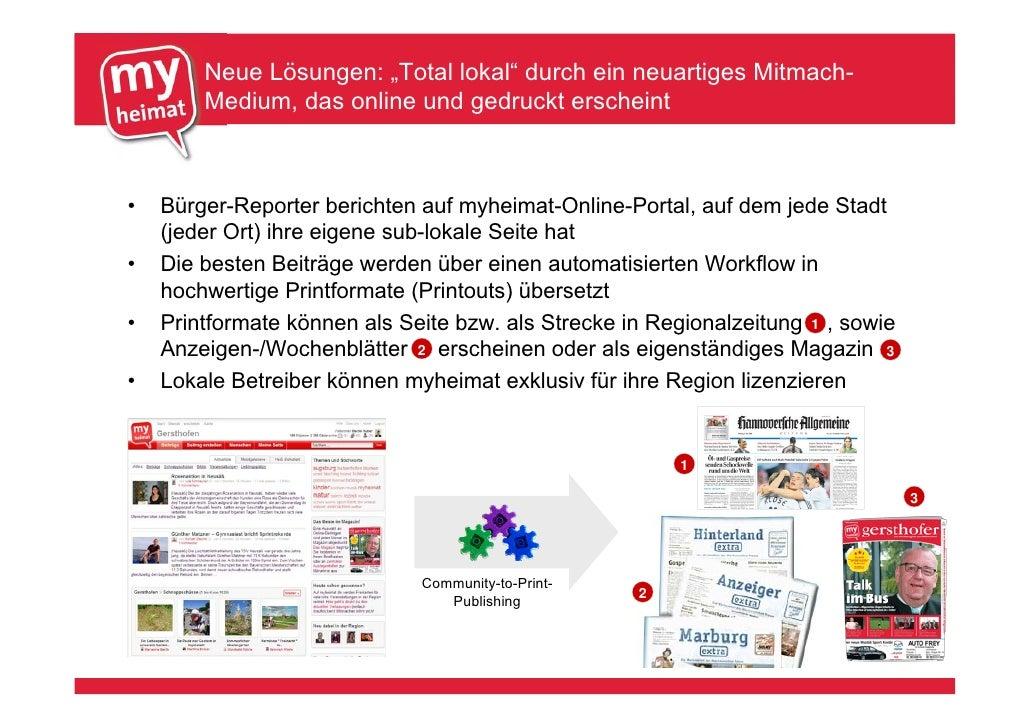 """Neue Lösungen: """"Total lokal"""" durch ein neuartiges Mitmach-         Medium, das online und gedruckt erscheint    •   Bürger..."""