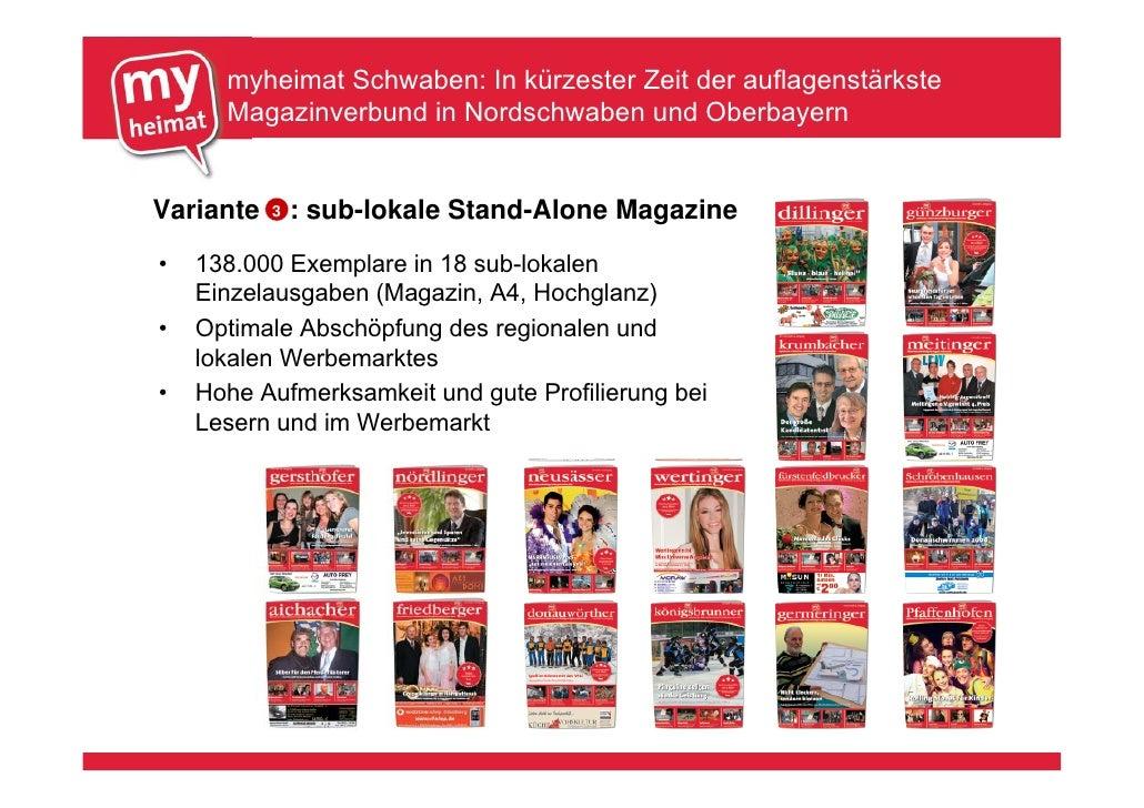 myheimat Schwaben: In kürzester Zeit der auflagenstärkste       Magazinverbund in Nordschwaben und Oberbayern   Variante  ...