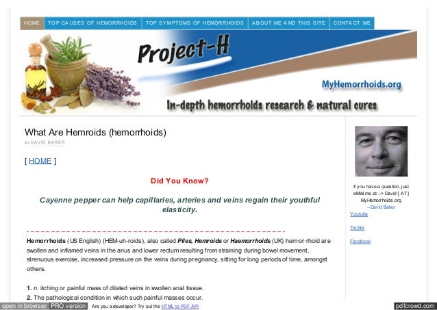pdfcrowd.comopen in browser PRO version Are you a developer? Try out the HTML to PDF APIWhat Are Hemroids (hemorrhoids)by ...