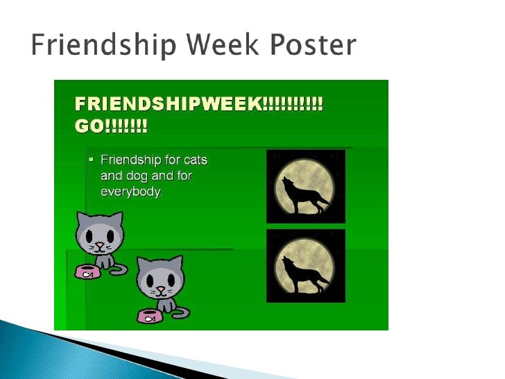 """   My reflection     ◦ I chose the message on my poster """"Friendship for       everyone"""" because it means to not bully to ..."""