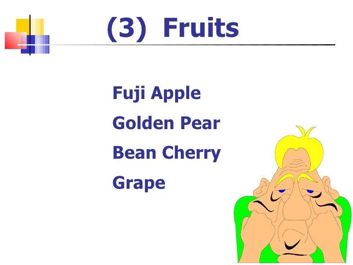Fuji Apple Golden Pear Bean Cherry Grape (3)  Fruits