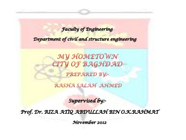 Faculty of Engineering   Department of civil and structure engineering                  Supervised by:-Prof. Dr. RIZA ATIQ...