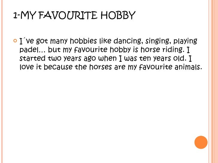 Short essay on hobbies