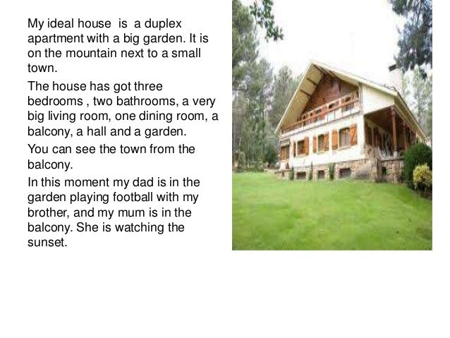 My ideal house essay