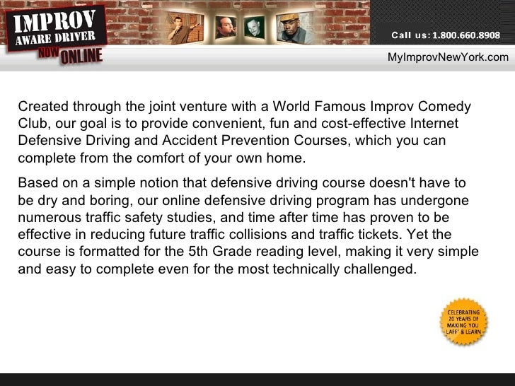 Comedy defensive driving coupon