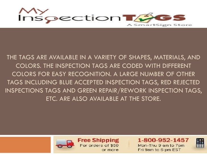 Myinspectiontags Com Has Superb Collection Of Inspection Tags