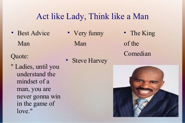 Act like lady think like man tips