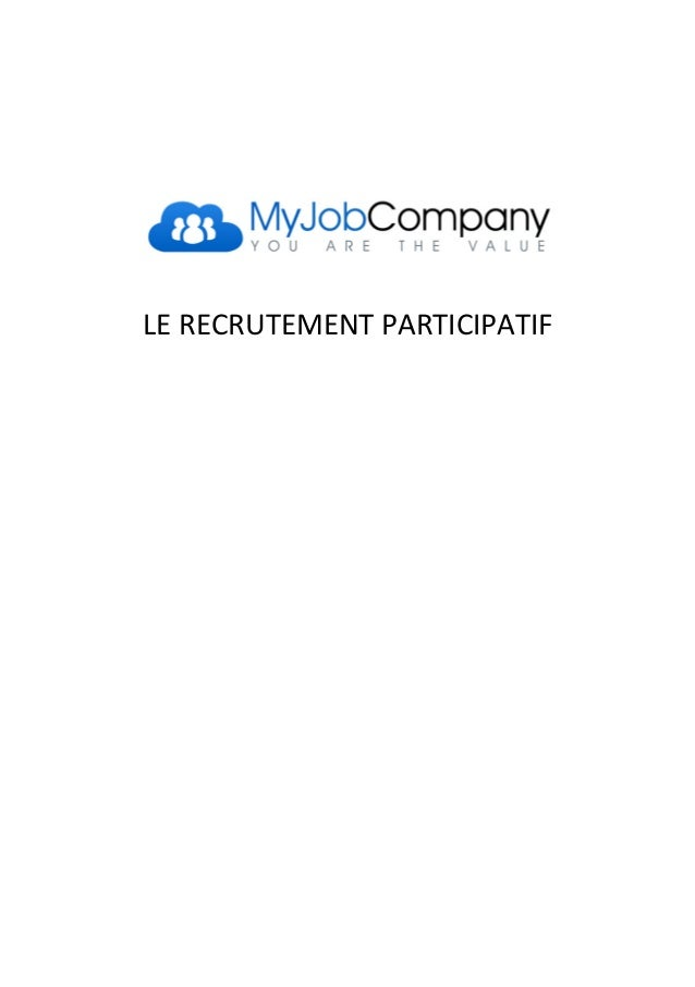 LE RECRUTEMENT PARTICIPATIF
