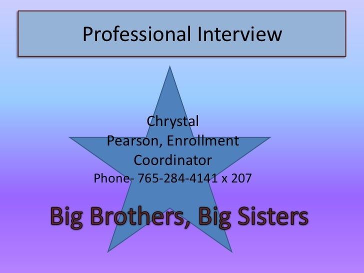 My job shadow experience and professional interview