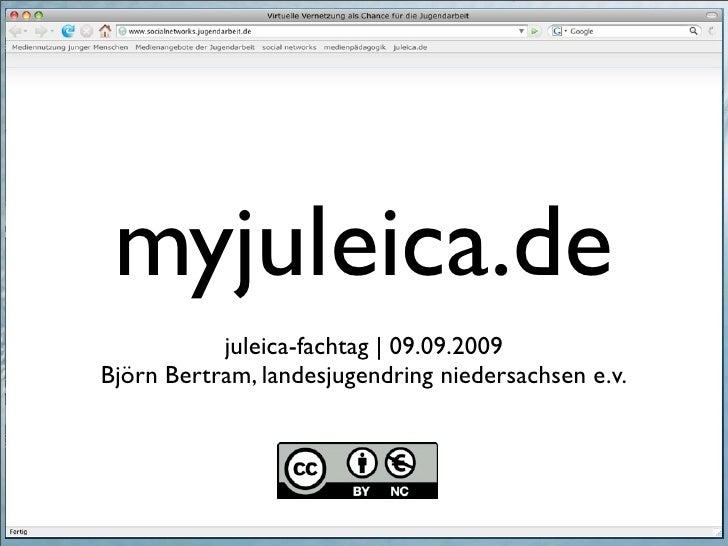 myjuleica.de            juleica-fachtag |09.09.2009 Björn Bertram, landesjugendring niedersachsen e.v.