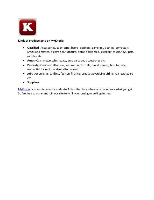 Dubai Free Classified Ads Posting | MyKnocks com