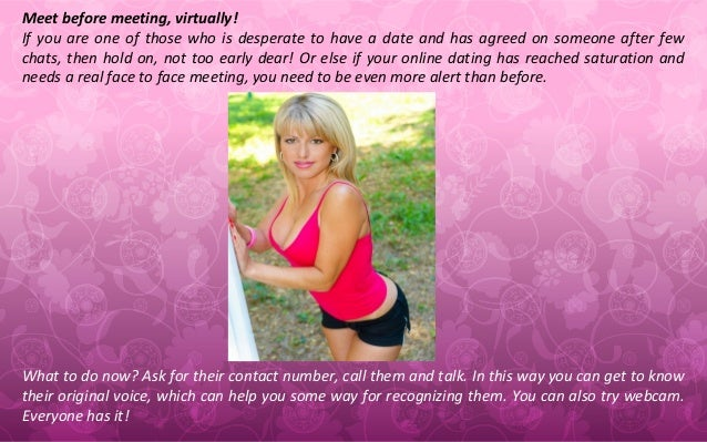 Online dating phone call before meeting
