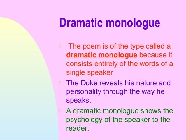 dramatic monologue 2 essay