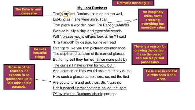 my last duchess analysis line by line