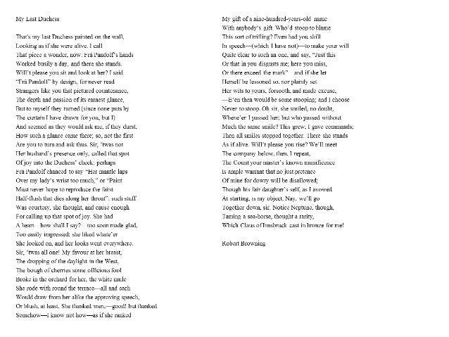 Robert Browning Biography My Last Duchess Essay - image 3