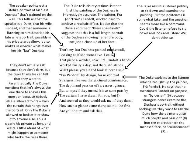 Argumentative Essay Sample High School My Last Duchess By Robert Browning  Essay In English Language also Sample Essay High School My Last Duchess  Barcafontanacountryinncom Buy Custom Essay Papers