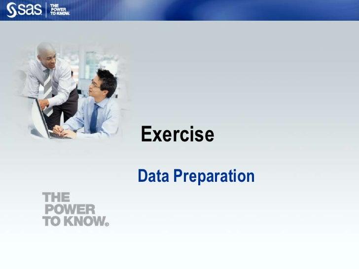 Exercise Data Preparation