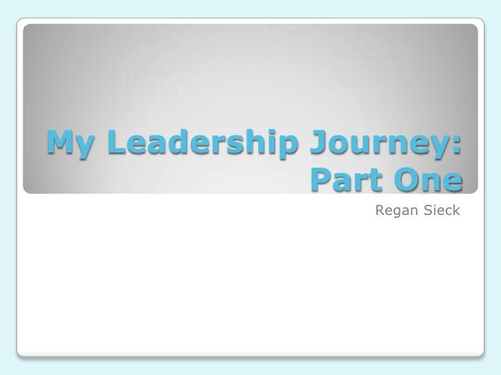 My leadership journey essay