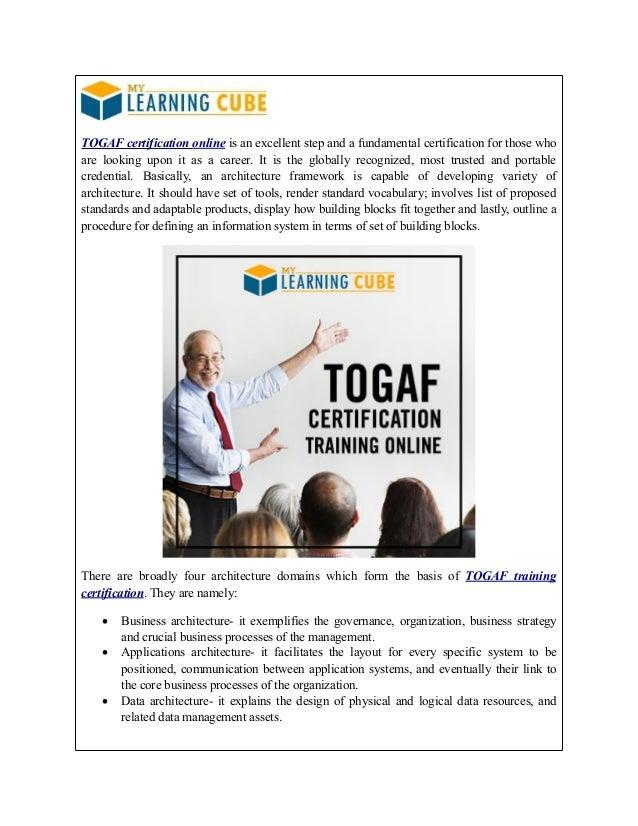 Online Togaf Training Mylearningcube