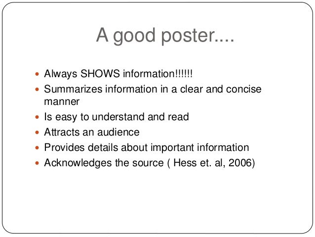 A small presentation about academic poster making!