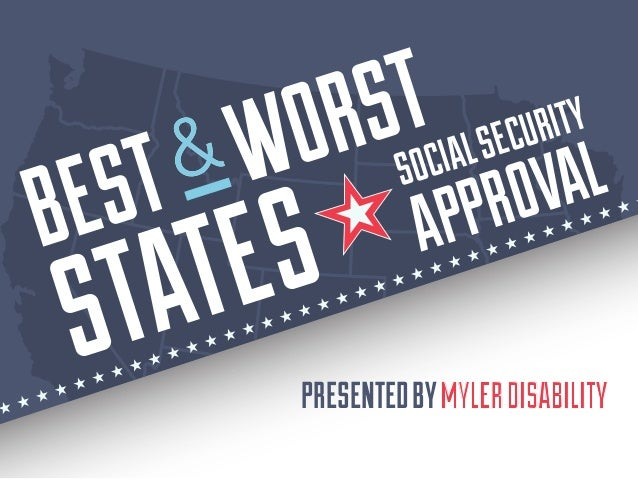 PRESENTEDBYMYLERDISABILITY STATES SOCIALSECURITY APPROVAL BEST WORST