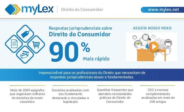 Direito do Consumidor www.mylex.net Mais de 2000 epígrafes que organizam milhares de decisões de modo casuístico Respostas...