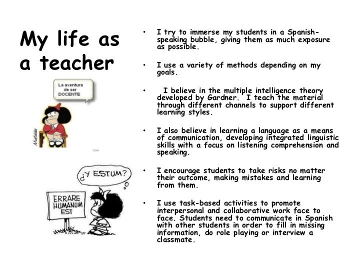 My life as a student and as a teacher