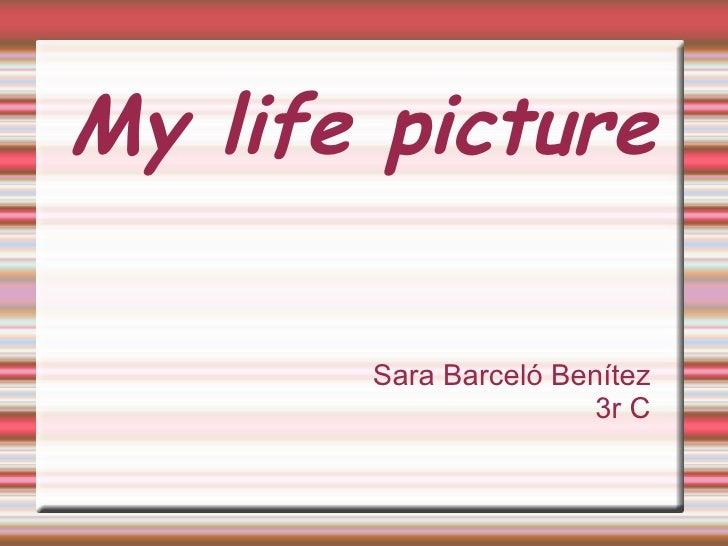 My  life   picture Sara Barceló Benítez  3r C