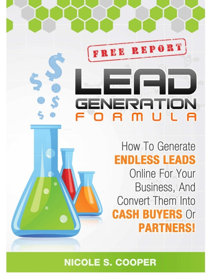 """Yes, Feel Free To Share This Report!!                    """"Online Lead Generation Formula!""""©Nicole S. Cooper of www.MLMPLRS..."""