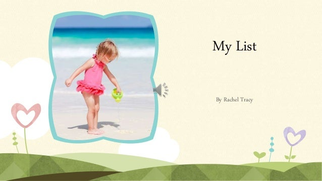 My List By Rachel Tracy