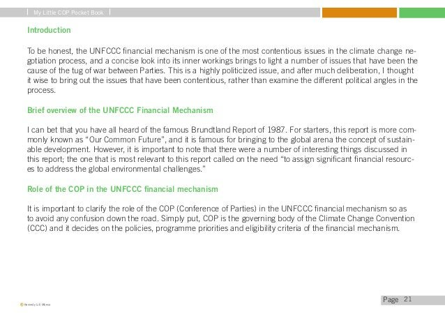My Little COP Pocket Book  Current Funds  The Global Environment Facility (GEF) is responsible for managing most funds in ...