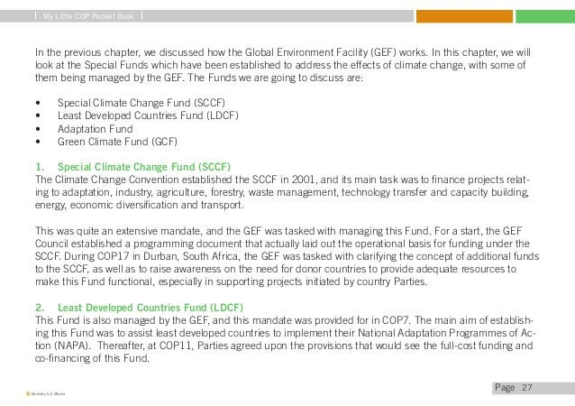 My Little COP Pocket Book  At COP17, the GEF was directed to make clear project baselines as well as how Parties can prepa...