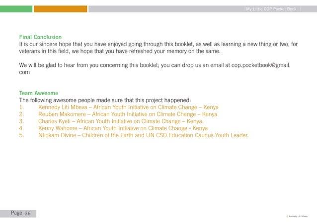 "My Little COP Pocket Book   REFERENCES   1.                 Climate Action""Emission Trading System (EU ETS)"" http://ec.eu..."