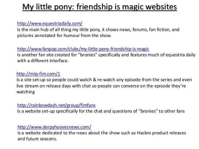 c5f7e64f0238 My little pony presentation